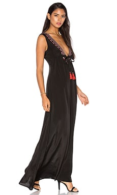 Karina Grimaldi Cathy Beaded Maxi Dress in Black