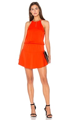 Romina Mini Dress in Tangerine