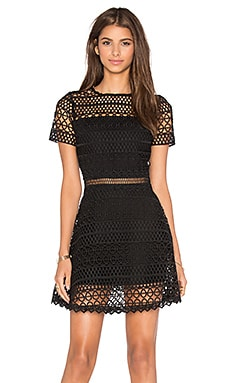 Karina Grimaldi Vincent Crochet Mini Dress in Black