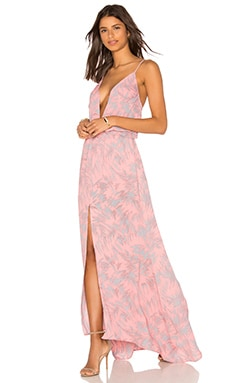 Malena Maxi Dress in Pink Fantasy