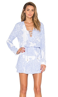 Karina Grimaldi Carol Mini Dress in Periwinkle Stone