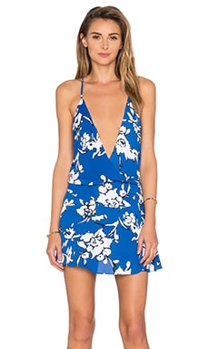 Ollie Dress in Blue Manilla