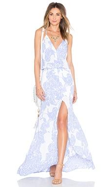 Karina Grimaldi Draco Maxi Dress in Periwinkle Stone