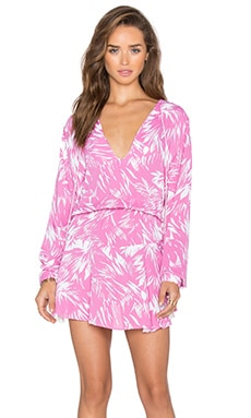 Karina Grimaldi Pilar Mini Dress in Rose Fantasy