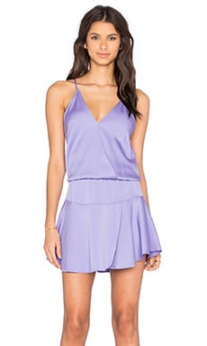 Karina Grimaldi Ollie Solid Mini Dress in Lilac