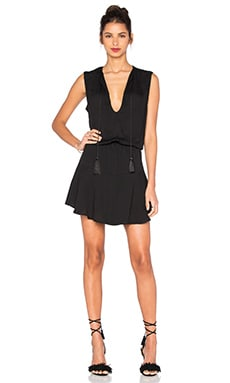 Summer Solid Mini Dress in Black