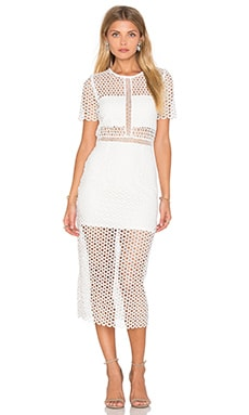Karina Grimaldi Ultimo Dress in White Crochet