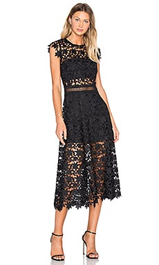 Dorianne Crochet Dress in Black