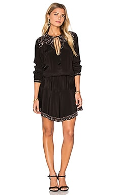 Prince Beaded Mini Dress in Black