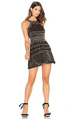 Gabe Beaded Mini Dress in Black