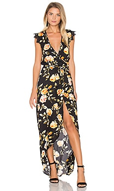 Tamara Print Maxi Dress in Rose