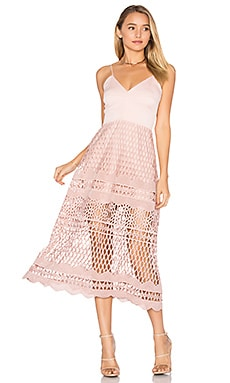 Alice Crochet Dress in Zartrosa