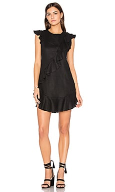Anthony Ruffle Mini Dress in Black