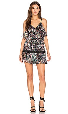 Aiden Print Mini Dress in Monet