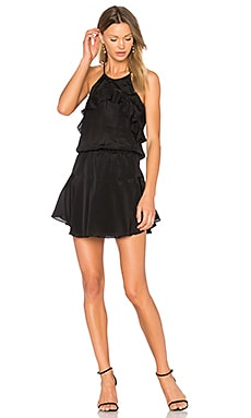 Celine Solid Mini Dress en Negro