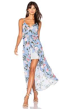 Egypt Print Maxi Dress in Chambre Rose