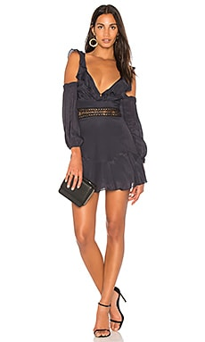 Volante Solid Mini Dress