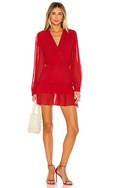 Athena Solid Mini Dress Karina Grimaldi $262