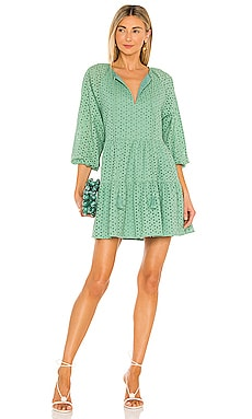 Irina Eyelet Mini Dress Karina Grimaldi $262 NEW