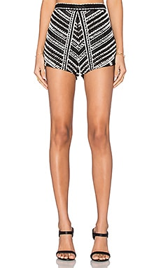 Karina Grimaldi Siesta Beaded Shorts in Black
