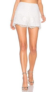 Saint Lace Short in White