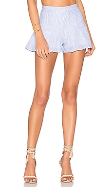 Alma Linen Shorts in Hampton Stripe
