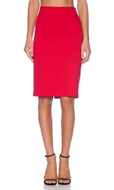 Karina Grimaldi Estrella Pencil Skirt in Red