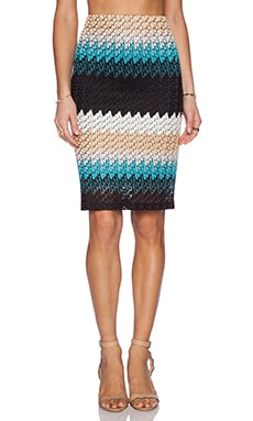 Karina Grimaldi Johanna Pencil Skirt in Montecarlo