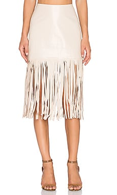 Karina Grimaldi Dylan Leather Skirt in Natural
