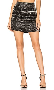 Ada Beaded Skirt in Schwarz