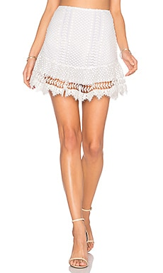 Nora Lace Skirt in White