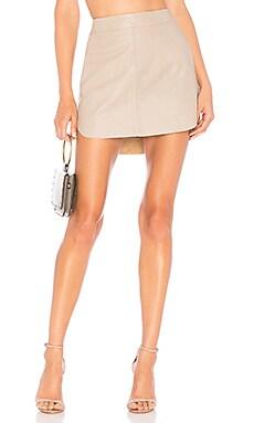 Simon Leather Skirt Karina Grimaldi $123