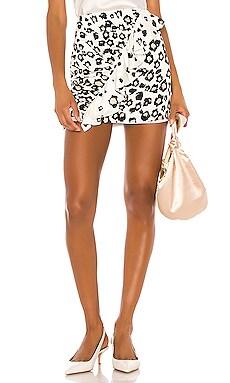 Danielle Print Mini Skirt Karina Grimaldi $77