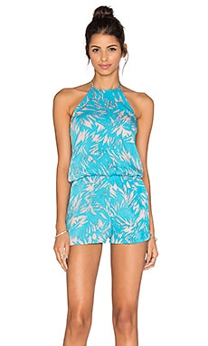 Valley Romper in Aqua Fantasy
