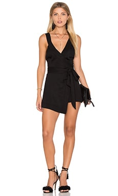 Daisy Solid Romper in Black