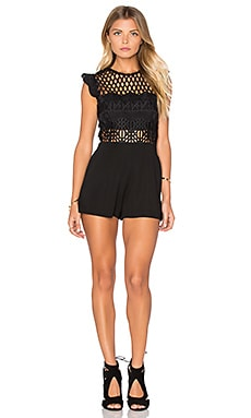Johan Crochet Romper in Black