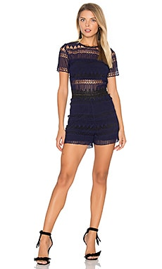 Chola Lace Romper in Indigo