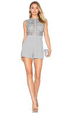 Vicentina Lace Romper in Sky
