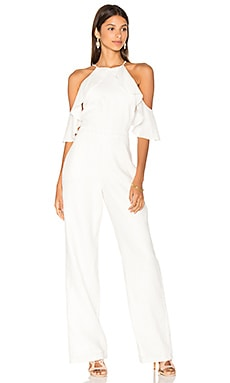 Harper Linen Jumpsuit in Off White