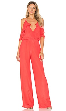 Rockefeller Solid Jumpsuit in Sunrise Coral