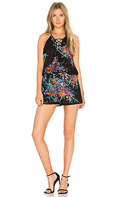 Sierra Print Romper in Tropical Bloom