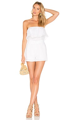 Maura Linen Romper in White