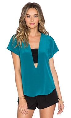 Karina Grimaldi Paigel Top in Jade & Black