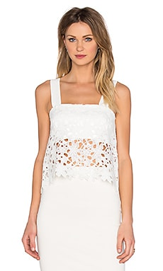 Karina Grimaldi Sissi Lace Top in White