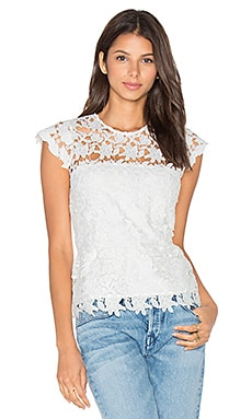 Hanna Crochet Top in Snow