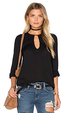 Karina Grimaldi Jackson Top in Black