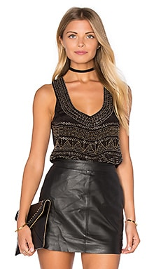 Karina Grimaldi Nolita Beaded Tank in Black