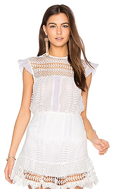 Isabella Lace Top in White
