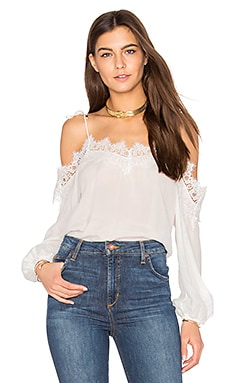Fleur Solid Top in White