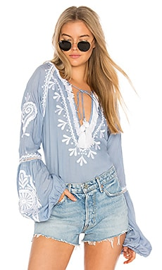 Tom Embroidered Top in Chambre